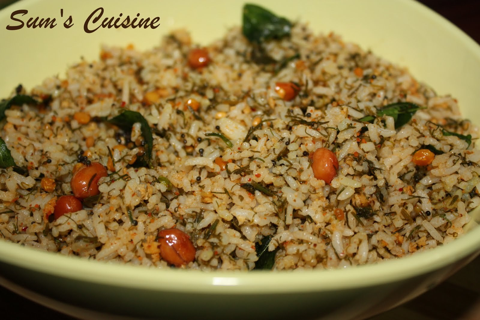 Dill Rice - A nutritious rice speciality