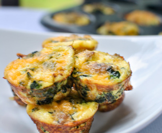 Mini Egg Muffin Bites with Spinach and Turkey Sausage