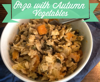 Orzo with Autumn Vegetables