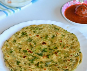 Methi Paratha Recipe - Indian Flat Bread with Fenugreek Leaves
