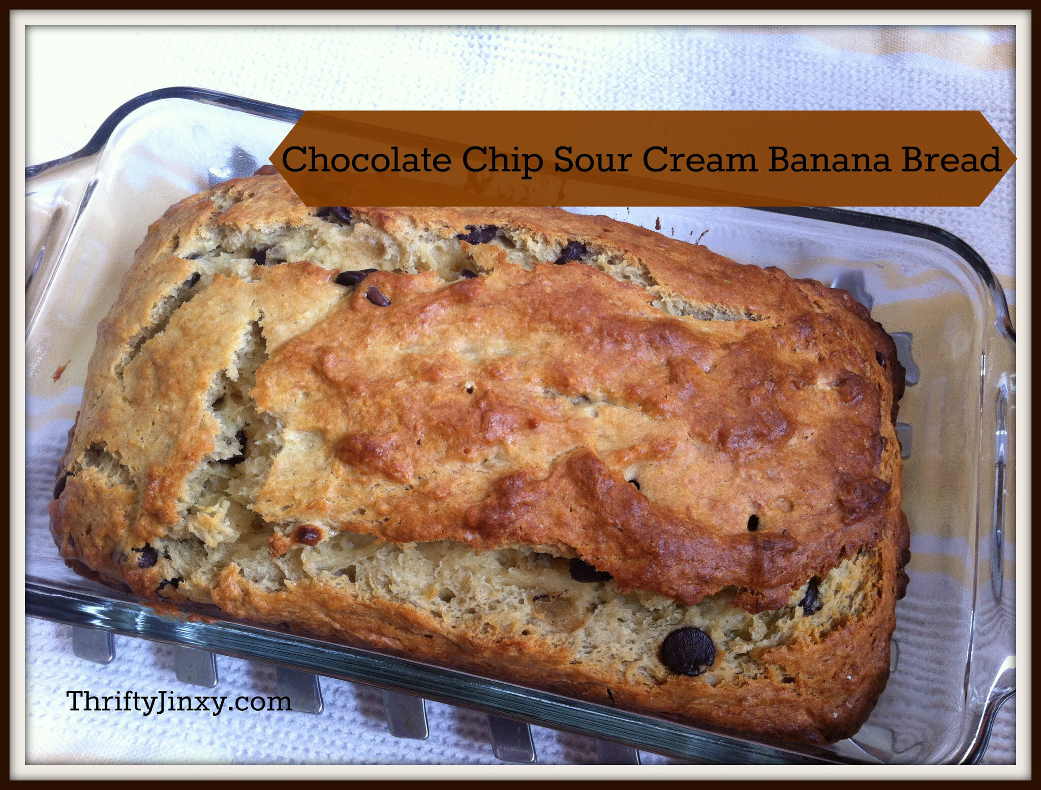 Chocolate Chip Sour Cream Banana Bread Recipe