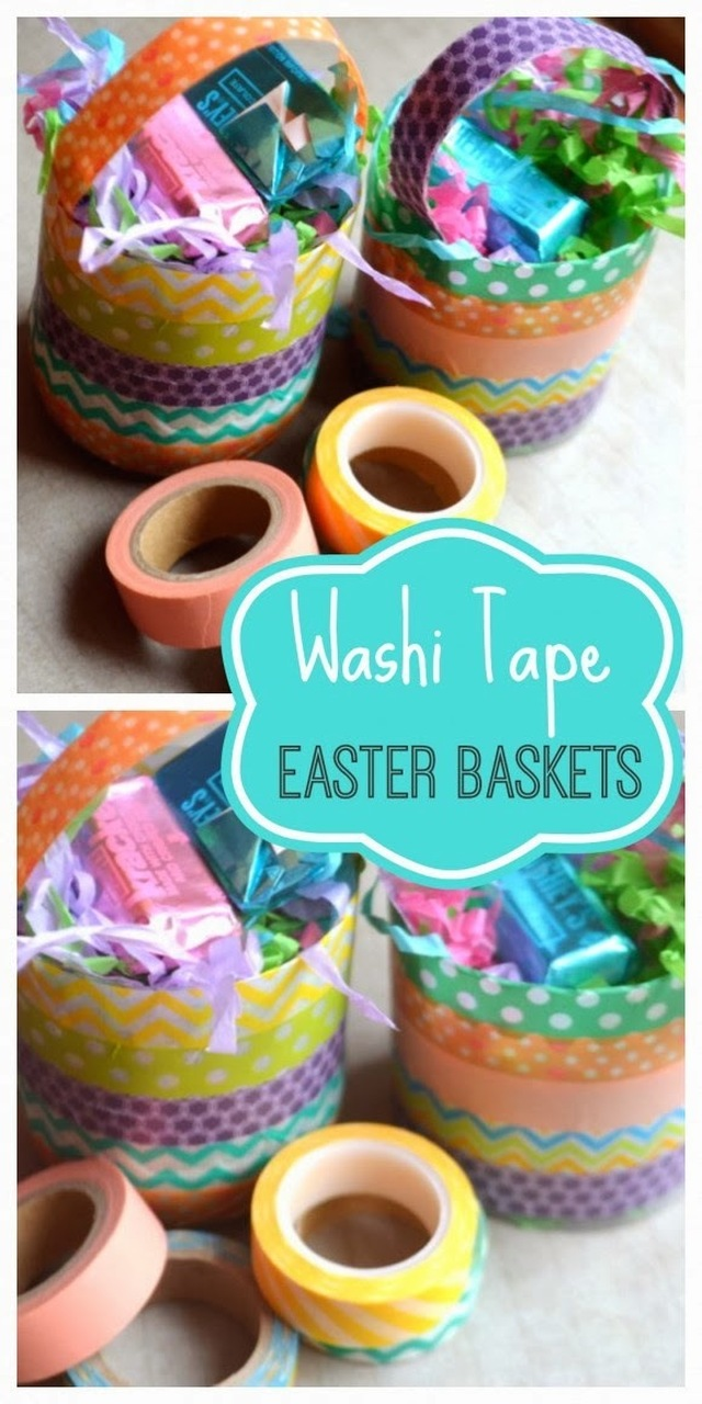 DIY Craft: Washi Tape Easter Baskets