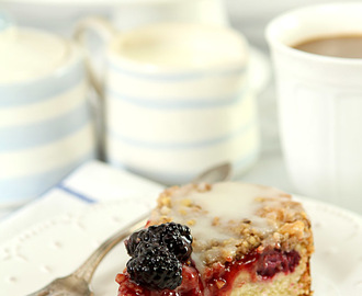 Blackberry Cream Cheese Coffee Cake and an iCoffee Coffeemaker Giveaway
