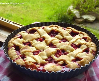 CROSTATA RABARBARO E FRAGOLE. La rhubarb-strawberry pie di Ele!