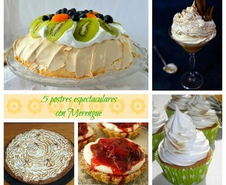 5 postres espectaculares con merengue