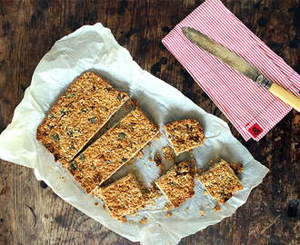 Cherry, Fig and Peanut Butter Flapjacks