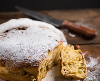 Pan dolce alla frutta secca - Sweet bread with dried fruit -
