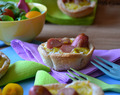 MINI QUICHES DE SALCHICHAS DE PAVO