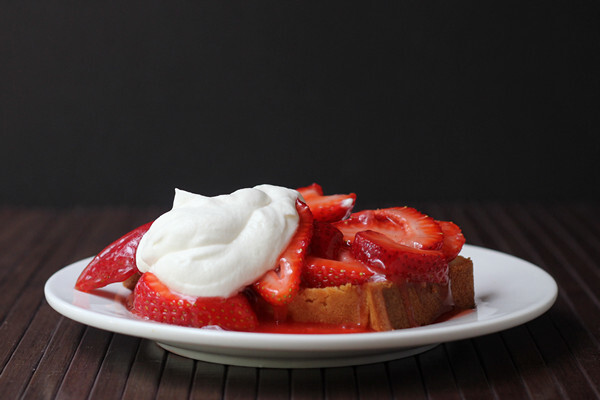 Strawberry Shortcake: The pound cake version with  #Driscollsberry #strawshort