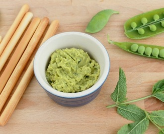 Broad Bean, Pea and Mint Hummus