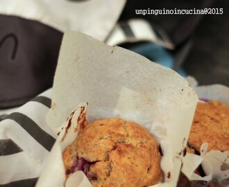 Banana Blueberry Muffin (senza uova e senza lattosio)