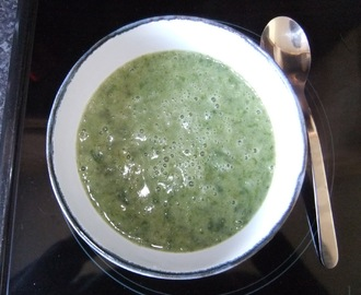 Watercress, spinach, rocket, and potato soup (gluten and dairy free)