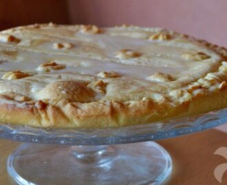 Tarta de chocolate blanco (crostata)