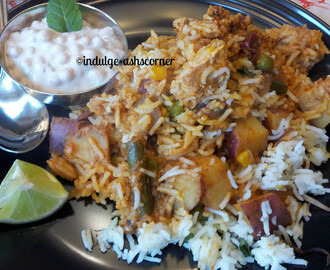 Vegetable Paneer Tikka Biryani
