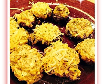 #Appetizers – Bacon Cream Cheese Stuffed Mushrooms