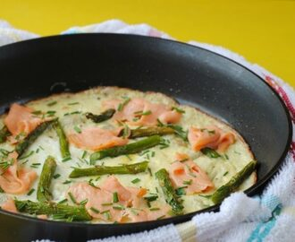 Smoked Salmon, Asparagus and Herb Omelette