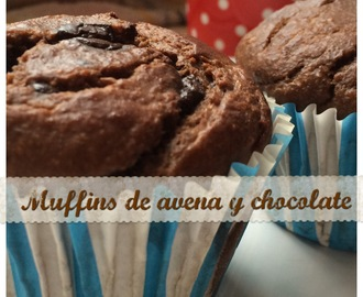 Muffins de avena con chocolate fit