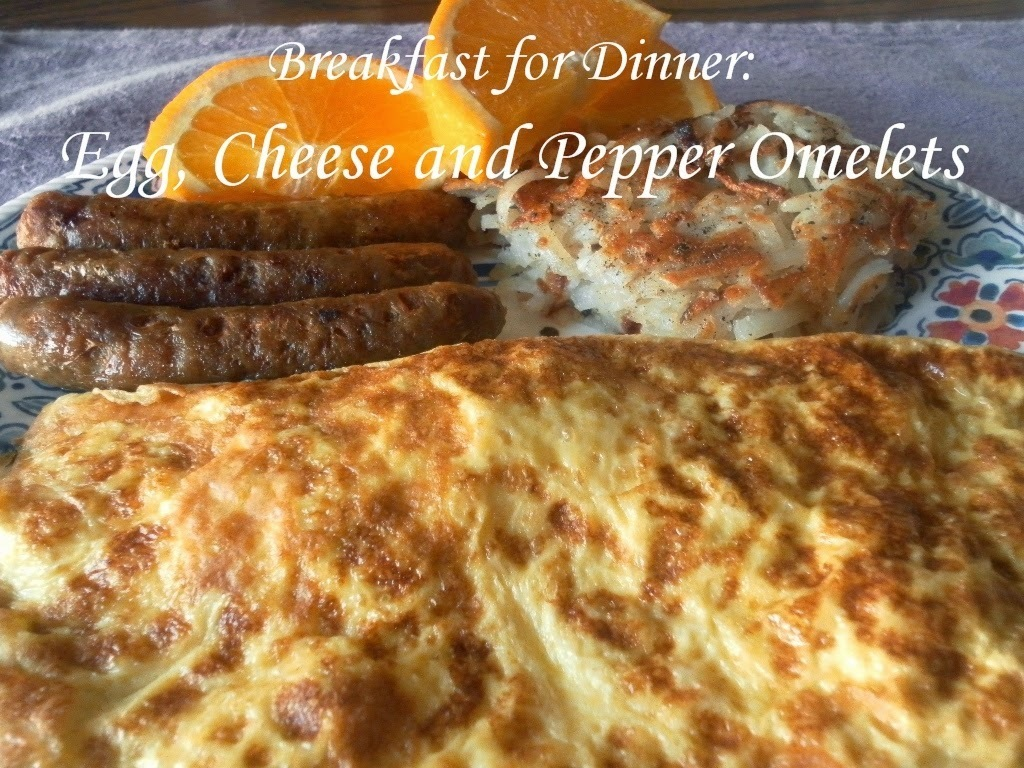 Egg, Cheese and Pepper Omelets