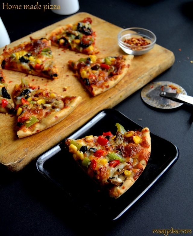Homemade Pizza Recipe, Veg Pizza Recipe, How to make Vegetable Pizza