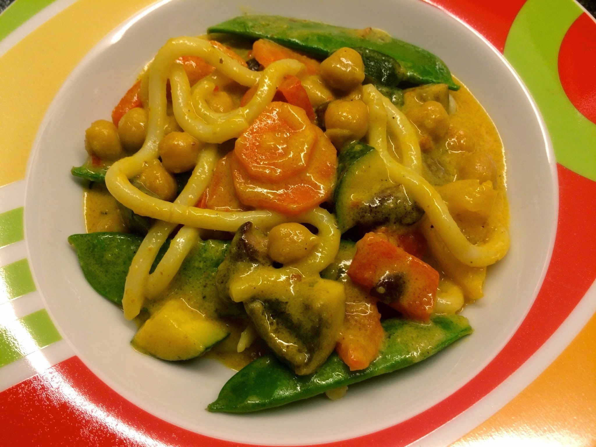 rotes thai curry - vegan