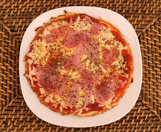 Pizza Proteica Base de Pollo
