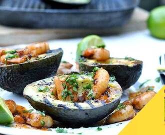 Grilled Avocados & Chilli Lime Prawns