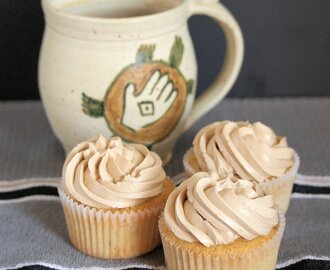 Hazelnut Cupcakes with Coffee Buttercream