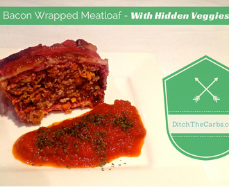 Bacon Wrapped Meatloaf – with hidden veggies