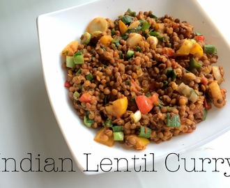 Veganes Indisches Linsencurry / Vegan Indian Lentil Curry