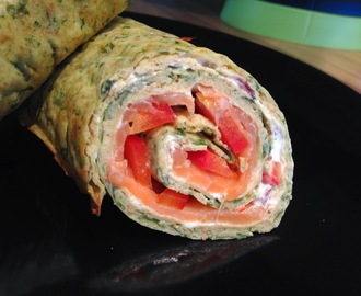 Lachs-Spinat-Wrap