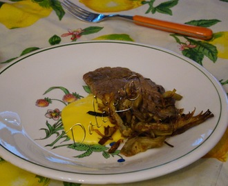 Filetto con fonduta e carciofi