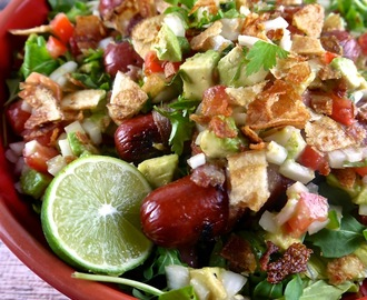Loaded Hot Dog Salad