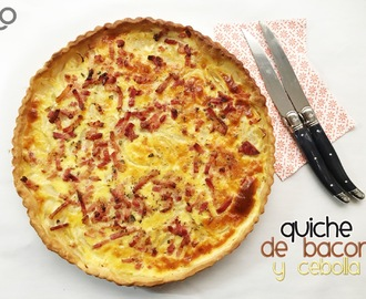 Quiche de Bacon y Cebolla Express