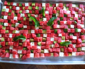 Today Dishing: Watermelon Checkerboard Salad
