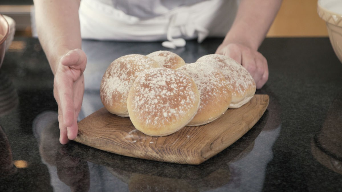 Classic white bread rolls, the Bettys way