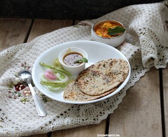 Shahi Paneer and Whole Wheat Stuffed Kulchas