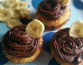 Banana Fudge Cupcakes with Chocolate Buttercream Icing