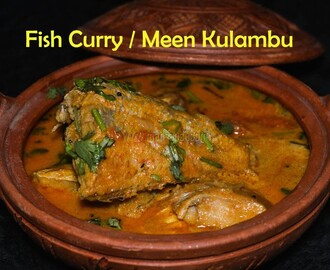 Fish Curry / Sankara Meen Kulambu in Maan Paanai