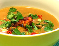 Thai pumpkin soup with Abalone Sauce