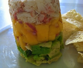 Today Dishing: Mango, Crab and Avocado Tower