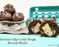 Chocolate Chip Cookie Dough Brownie Bombs