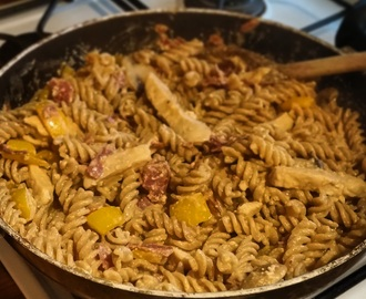 Slimming World Friendly Recipe- Creamy Chicken & Chorizo Pasta