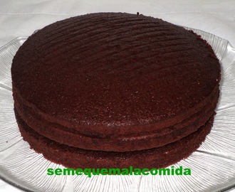 BIZCOCHO DE CHOCOLATE (PARA LAYER CAKE)