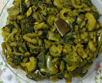 Bitter Gourd With Eggplant/Karela With Binjal/ Uchche–Begun
