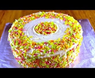 funfetti cake recipe | how to make rainbow cake | birthday cake recipe - YouTube