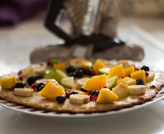 Fruchtige Oatmeal Pizza – Ein Clean Eating Rezept