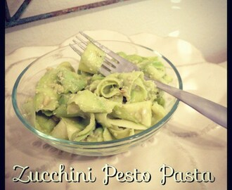 Raw Zucchini Pasta with Avocado Pesto