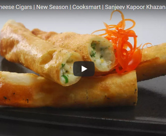 Paneer & Cheese Cigars Recipe Video