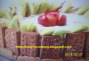 Shrikhand biscuit pudding
