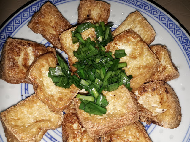 FRIED TOFU WITH CHIVES